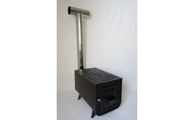 【C4501】アウトドア薪ストーブ・煙突セット 角型