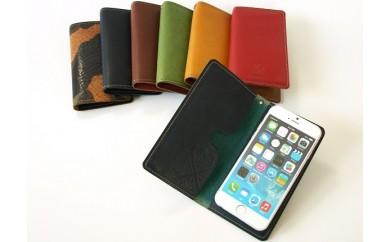 [№5656-0312]手帳型スマホケース◆セラピードロップ ~Handmade Leather goods~◆