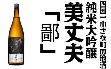【四国一小さな町の地酒】純米大吟醸 美丈夫 鄙 一升瓶