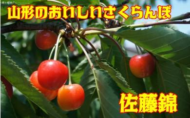 H1305 さくらんぼ佐藤錦(山形県産) 約1kgバラ詰め