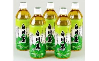美濃白川茶農薬不使用茶葉100%白川茶ペットボトル500ml24本入り