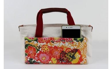 ■琉球帆布■【レザーRYUKAバタフライ】バッグインバッグ