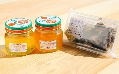 Y06-2 南関町の「れんげ」「みかん」蜂蜜と「黒ニンニク」セット