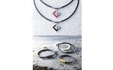 コラントッテ磁気ネックレス(ブラック)&ブレスレット(ブラック)