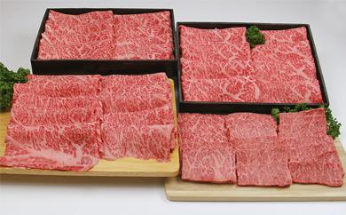 E-1 徳之島天城町産特選黒毛和牛 すき焼き&焼肉セット