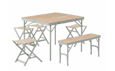 (1158)LOGOS Life ベンチテーブルセット6