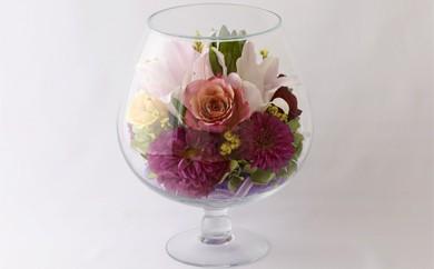 G14 ボトルフラワー✿カサブランカ(グラス2L型)【花の美しさそのまま】