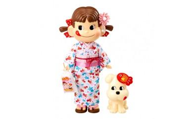 H170 ゆかたペコちゃん&Dog人形