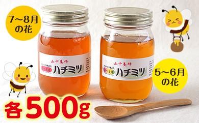 山中養蜂 はちみつ食べ比べセット【2月発送分】