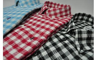 C14 播州織長袖クラッシュシャツ(メンズ・1着)