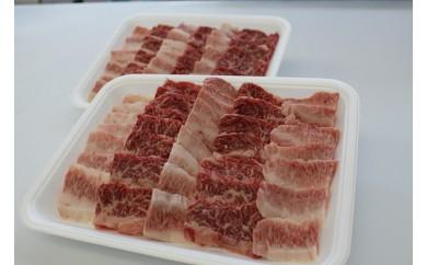 C13 【数量限定品】 山形県産山形牛上カルビ盛り合わせ 約1.2kg(約600g×2パック)