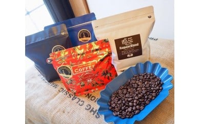 17-22 新鮮煎りたてコーヒー豆セット200g×4種