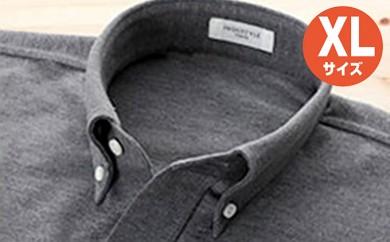 [№5630-0327]「すみだモダン」丸和繊維工業INDUSTYLE TOKYO動体裁断シャツグレー(XL)