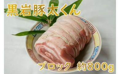 チョイス限定!数量限定の希少豚 黒岩豚太 焼き豚用ブロック 約800g★