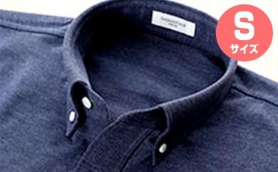 [№5630-0328]「すみだモダン」丸和繊維工業INDUSTYLE TOKYO動体裁断シャツネイビー(S)