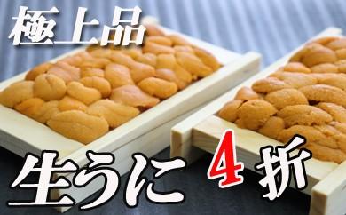 CC-16004 エゾバフンウニ折100~110g×4折[450735]