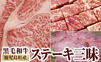 【I-295】こだわりの豪華ステーキ3種!黒毛和牛ステーキ三昧 2.6kg