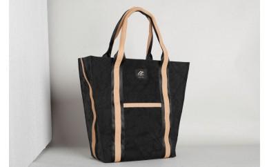 BB04 自動車のエアバッグが素材の耐久性に優れた男女兼用トートバッグ【台形】Black