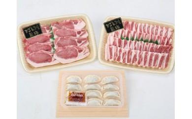 【A02018】鹿児島県産黒豚テキカツ・焼肉大盛りセット