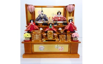雛人形(春慶塗の三段飾)