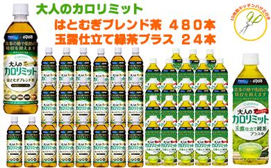【200045】カロリミットはとむぎブレンド茶20ケース&緑茶の大量セット