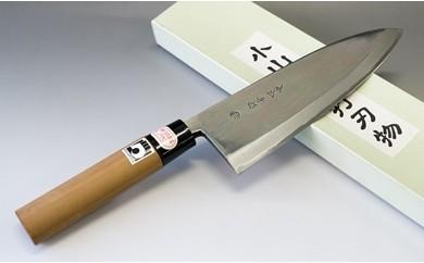 28-142 小山本手打刃物(熊本県伝統的工芸品) 白紙 出刃6.5寸 片刃(限定1品)