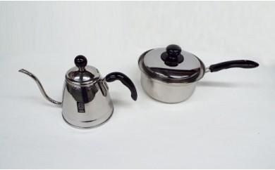 1800870 フィーノ コーヒーポット1.2L & 3層鋼片手鍋18cm