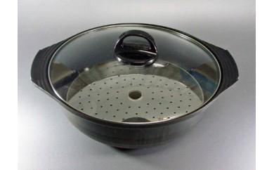 1800869 土鍋風蒸し器25cm (目皿付き)