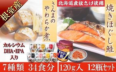 CB-24012 「さんまのやわらか煮」&「焼きほぐし鮭」のごはんのお供セット[381960]