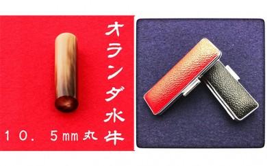 [№5786-1849]オランダ水牛10.5mm(5書体)牛革ケース(赤)