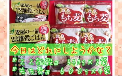 B168-O 【国産】22雑穀ごはん540g×2袋+もち麦600g×4袋