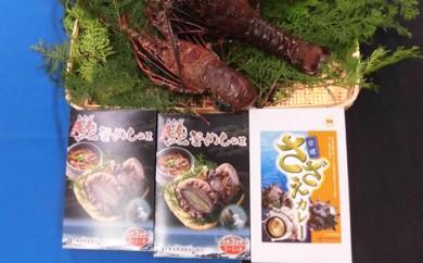 [№5651-0559]漁協からの贈り物(特大伊勢海老約1.2kgと海鮮レトルトセット)