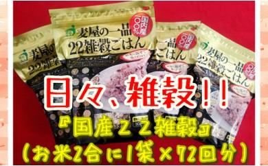 B167-O 【国内産100%】22雑穀ごはん540g×4袋!
