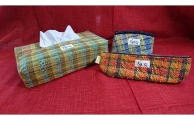 [№5729-0137]真心こめてトントン♪手織り製品3品セット