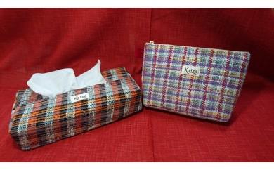 [№5729-0136]真心こめてトントン♪手織り製品2品セット