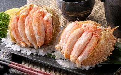 [№5901-0373]毛蟹一杯まるごと♪北海道産毛蟹甲羅盛  3個