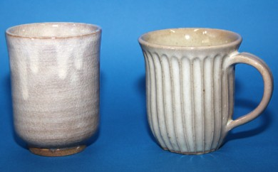 [№5930-0082]マグカップと切立湯呑