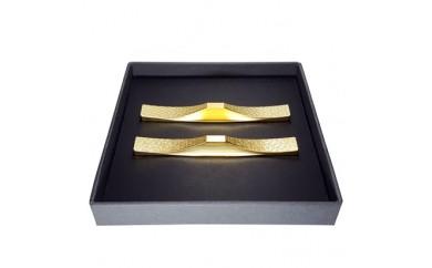 H113 ITADAKIカトラリーレスト(お箸置き/ゴールド) (菊・桜 2個セット)
