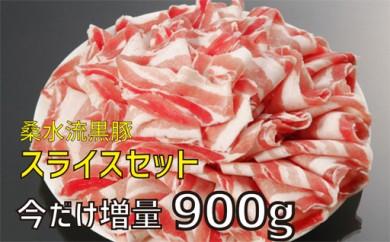 29-1311【今だけ増量!】桑水流黒豚スライスセット【4000pt】