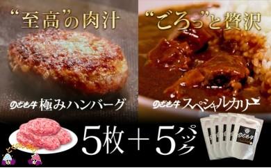 132 のざき牛の極みハンバーグステーキ+スペシャルカリーギフト