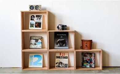 北海道育ちの木材を使った宮大工特製「キューブBOX M」2個セット