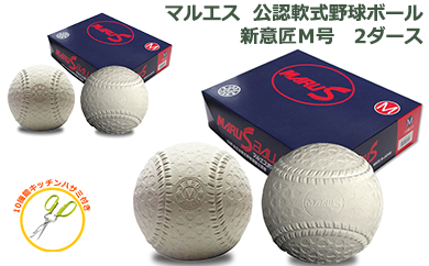 【40026】マルエス公認軟式野球ボールM号2ダース試合球草野球一般中学