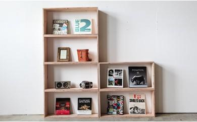 北海道育ちの木材を使った宮大工特製「キューブBOX L」2個セット