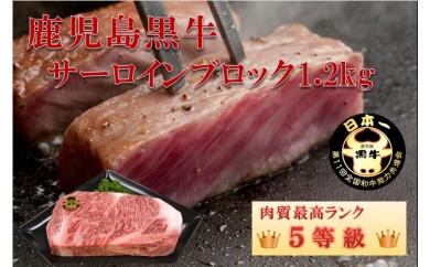 262 鹿児島黒牛サーロインブロック1.2kg