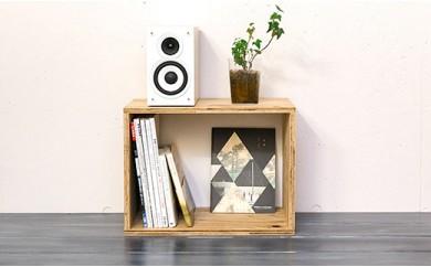 北海道育ちの木材を使った宮大工特製「キューブBOX M」
