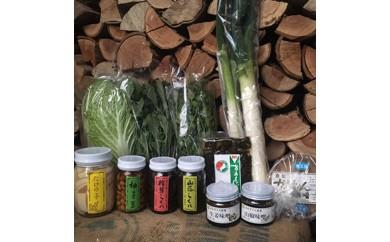 20-13 『豊能町産新鮮野菜10種とかあちゃんセット』の大満足コース