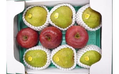 008-003【先行予約/H30秋お届け】りんご&ラフランス詰合せ