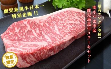 45-A03 【最高ランク5等級】鹿児島黒牛ステーキセット