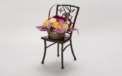W3040-01 【スチールアート】花台 「バラ」