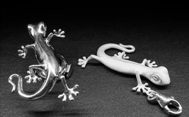 ハンドメイドジュエリー「gecko pins」